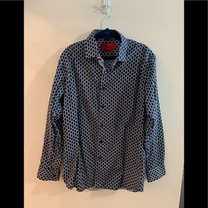 Boys Elie Dress Shirt made in Italy size 16 blue